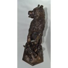 Медведь у пня м/р бронза